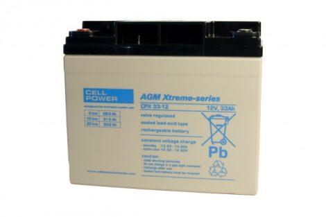 Cellpower CPX33-12 12V 33Ah ciklikus/szolár akkumulátor