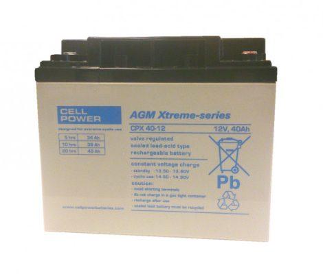Cellpower CPX40-12 12V 40Ah ciklikus/szolár akkumulátor