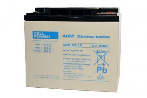 Cellpower CPX50-12 12V 50Ah ciklikus/szolár akkumulátor