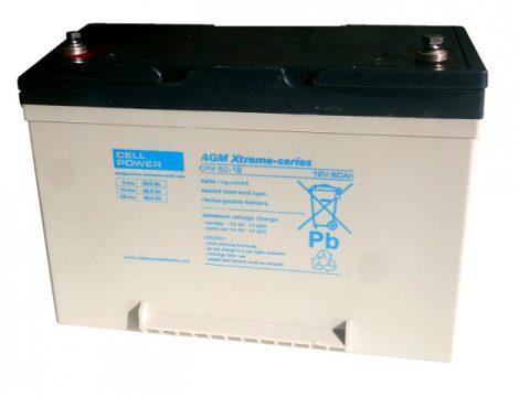 Cellpower CPX60-12 12V 60Ah ciklikus/szolár akkumulátor