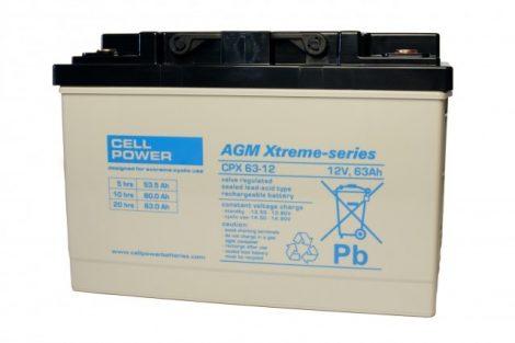 Cellpower CPX63-12 12V 63Ah ciklikus/szolár akkumulátor