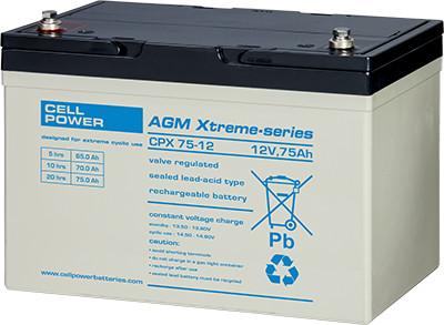 Cellpower CPX75-12 12V 75Ah ciklikus/szolár akkumulátor