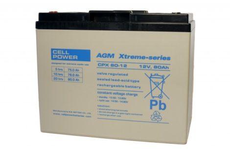 Cellpower CPX80-12 12V 80Ah ciklikus/szolár akkumulátor