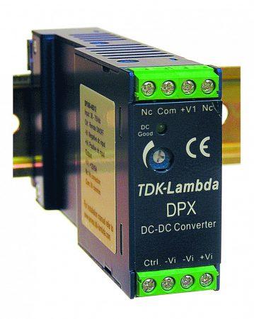 TDK-Lambda DPX60-48S05 1 kimenetű DC/DC konverter; 60W; 5VDC 12A; 1,6kV szigetelt