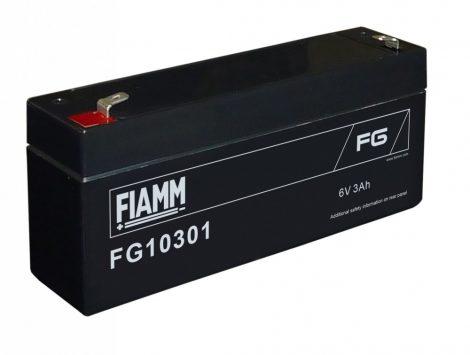 FIAMM FG10301 6V 3Ah Ipari zárt (zselés) ólomakkumulátor