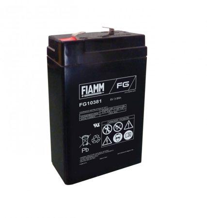 FIAMM FG10381 6V 3,8Ah Ipari zárt (zselés) ólomakkumulátor
