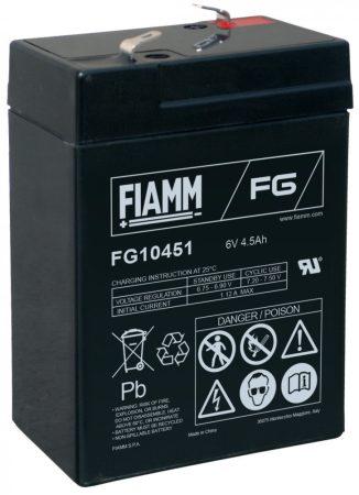 FIAMM FG10451 6V 4,5Ah Ipari zárt (zselés) ólomakkumulátor