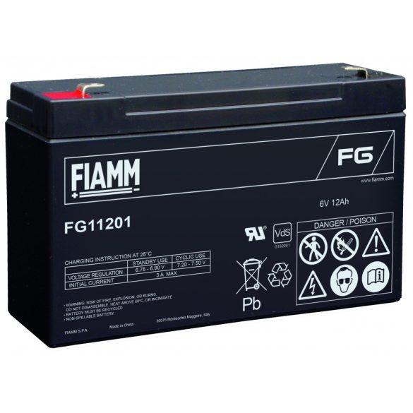 FIAMM FG11201 6V 12Ah Ipari zárt (zselés) ólomakkumulátor