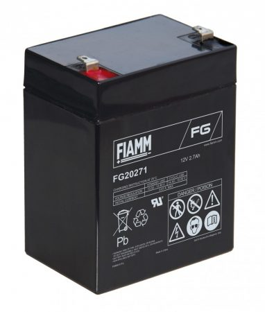 FIAMM FG20271 12V 2,7Ah Ipari zárt (zselés) ólomakkumulátor