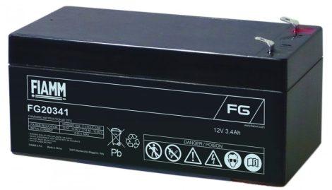 FIAMM FG20341 12V 3,4Ah Ipari zárt (zselés) ólomakkumulátor