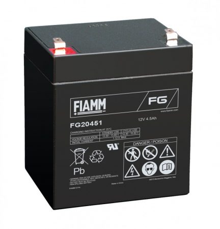 FIAMM FG20451 12V 4,5Ah Ipari zárt (zselés) ólomakkumulátor