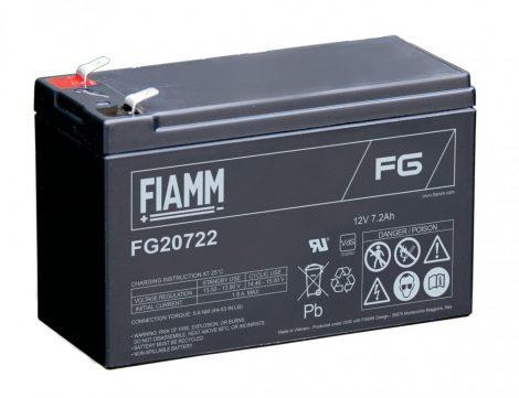 FIAMM FG20722 12V 7,2Ah Ipari zárt (zselés) ólomakkumulátor