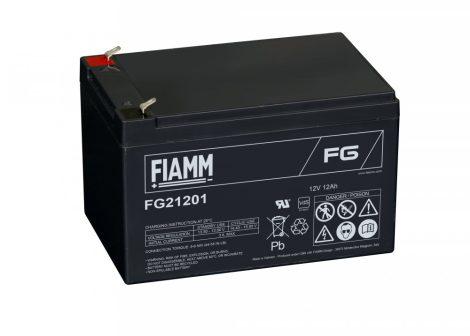 FIAMM FG21201 12V 12Ah Ipari zárt (zselés) ólomakkumulátor