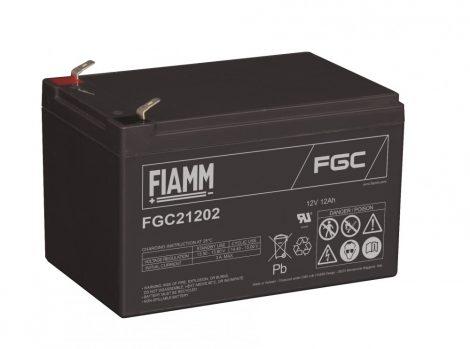 FIAMM FGC21202 12V 12Ah ciklikus (zselés) ólomakkumulátor
