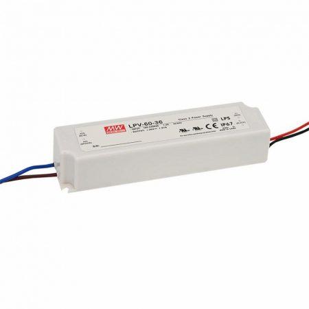 Mean Well LPV-60-12 12V 5A 60W LED tápegység