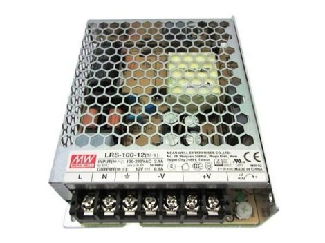 Mean Well LRS-100-12 12V 8,5A 102W tápegység