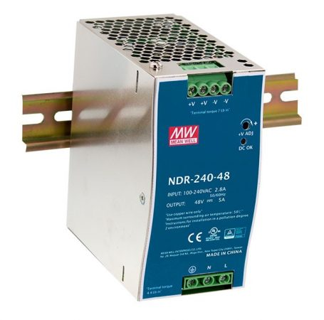 Mean Well NDR-240-24 24V 10A 240W tápegység