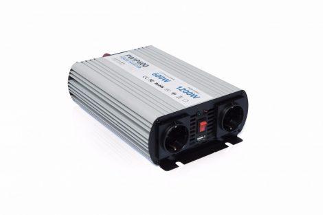 Power World PWIP600-122 12V 600W valódi szinuszhullám kimenetű inverter
