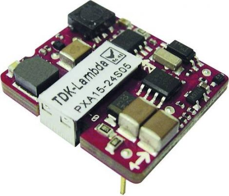 TDK-Lambda PXA15-24S05-NT 1 kimenetű DC/DC konverter; 15W; 5V 3A; 2,25kV szigetelt
