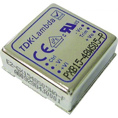 TDK-Lambda PXB15-48WD12 2 kimenetű DC/DC konverter; 15W; 12VDC 625mA; -12VDC -625mA; 1,6kV szigetelt