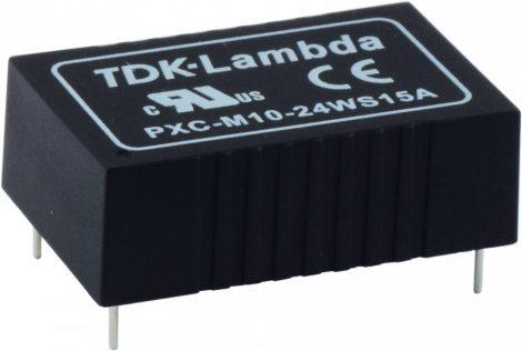 TDK-Lambda PXC-M10-48WS15-T 1 kimenetű orvosi DC/DC konverter; 10W; 15VDC 670mA; 5kV szigetelt