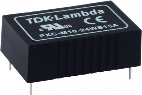 TDK-Lambda PXC-M10-48WS15 1 kimenetű orvosi DC/DC konverter; 10W; 15VDC 670mA; 5kV szigetelt