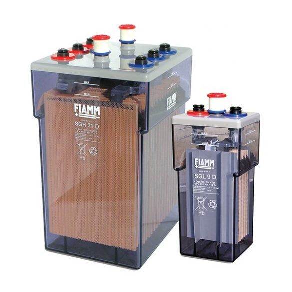 FIAMM SGH 21D 10 GroE 1000 2V 1100Ah Ipari nyitott ólomakkumulátor