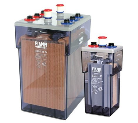 FIAMM SGH 53D 26 GroE 2600 2V 2860Ah Ipari nyitott ólomakkumulátor