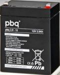 pbq 2.9-12 12V 2,9Ah szünetmentes/UPS akkumulátor