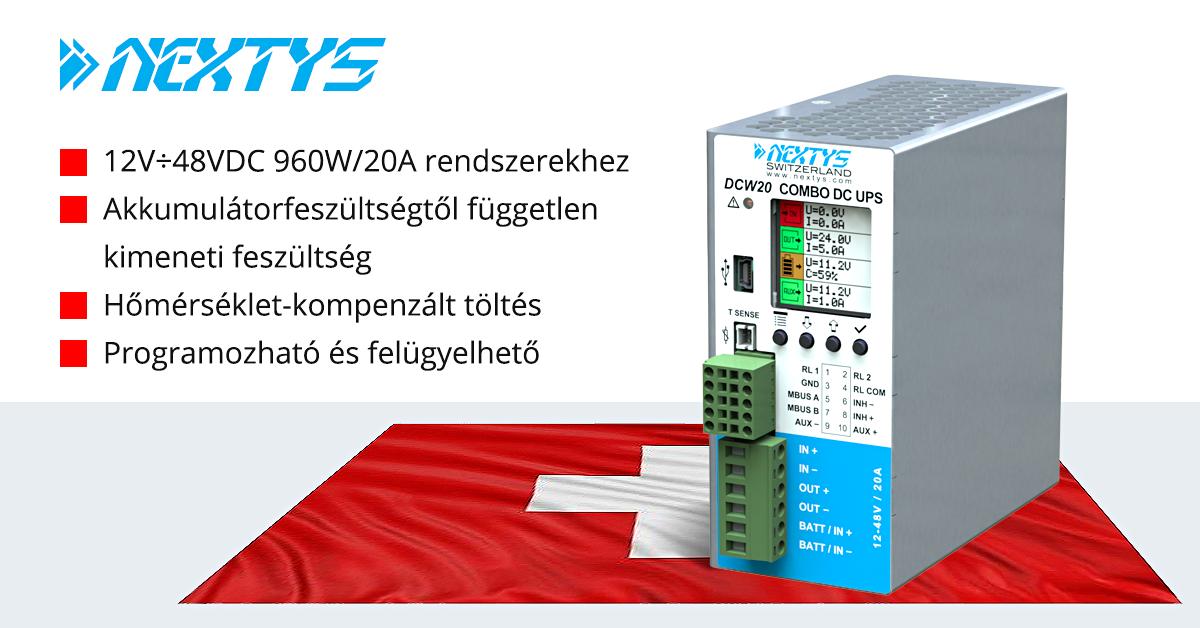 Sokoldalú DC UPS egyenesen Svájcból akkumulátor belső ellenállás mérés funkcióval